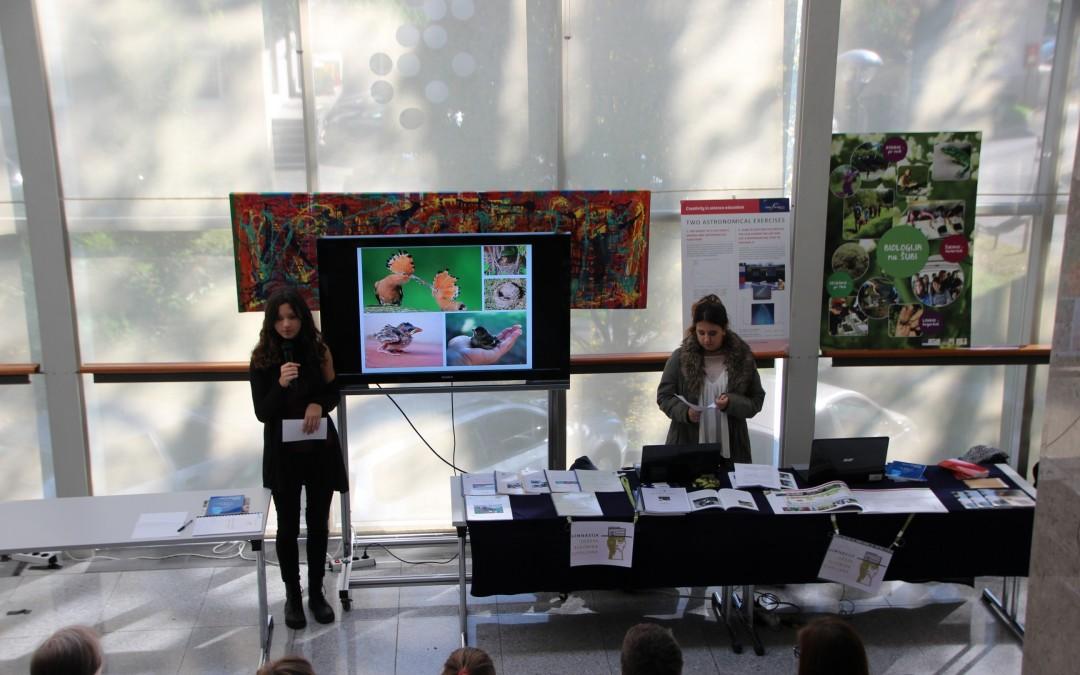 Dijaki GJP na 21. Slovenskem festivalu znanosti