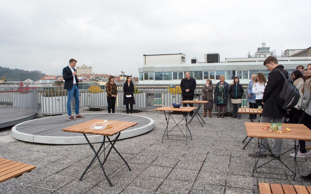Otvoritev šolske terase